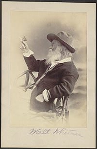 Phillips & Taylor, Photograph of Walt Whitman, 1873. Prints and Photographs Division, Library of Congress.