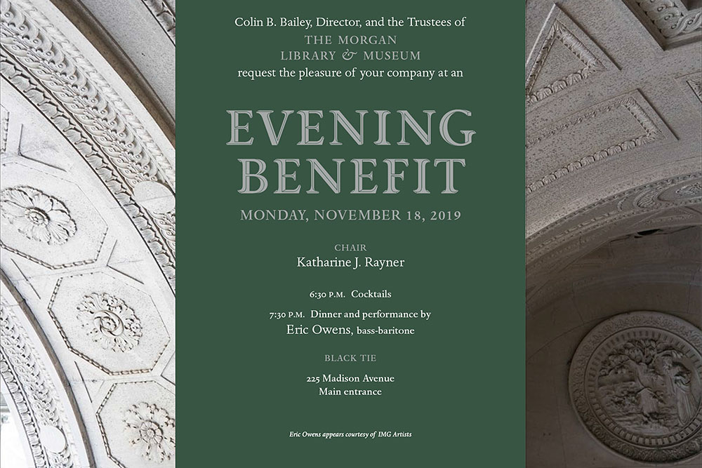 Colin B. Bailey, Director, and the Trustees of THE MORGAN