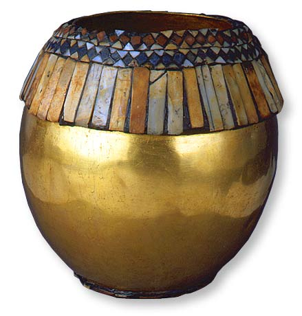 Image of Gold Vessel in the Form of an Ostrich Egg