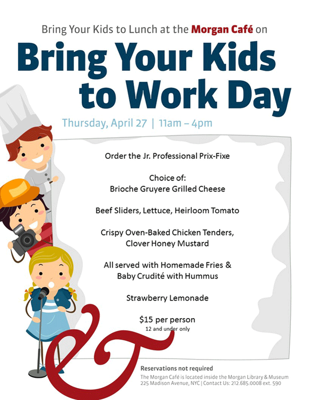 Bring Your Kids to Work Day menu