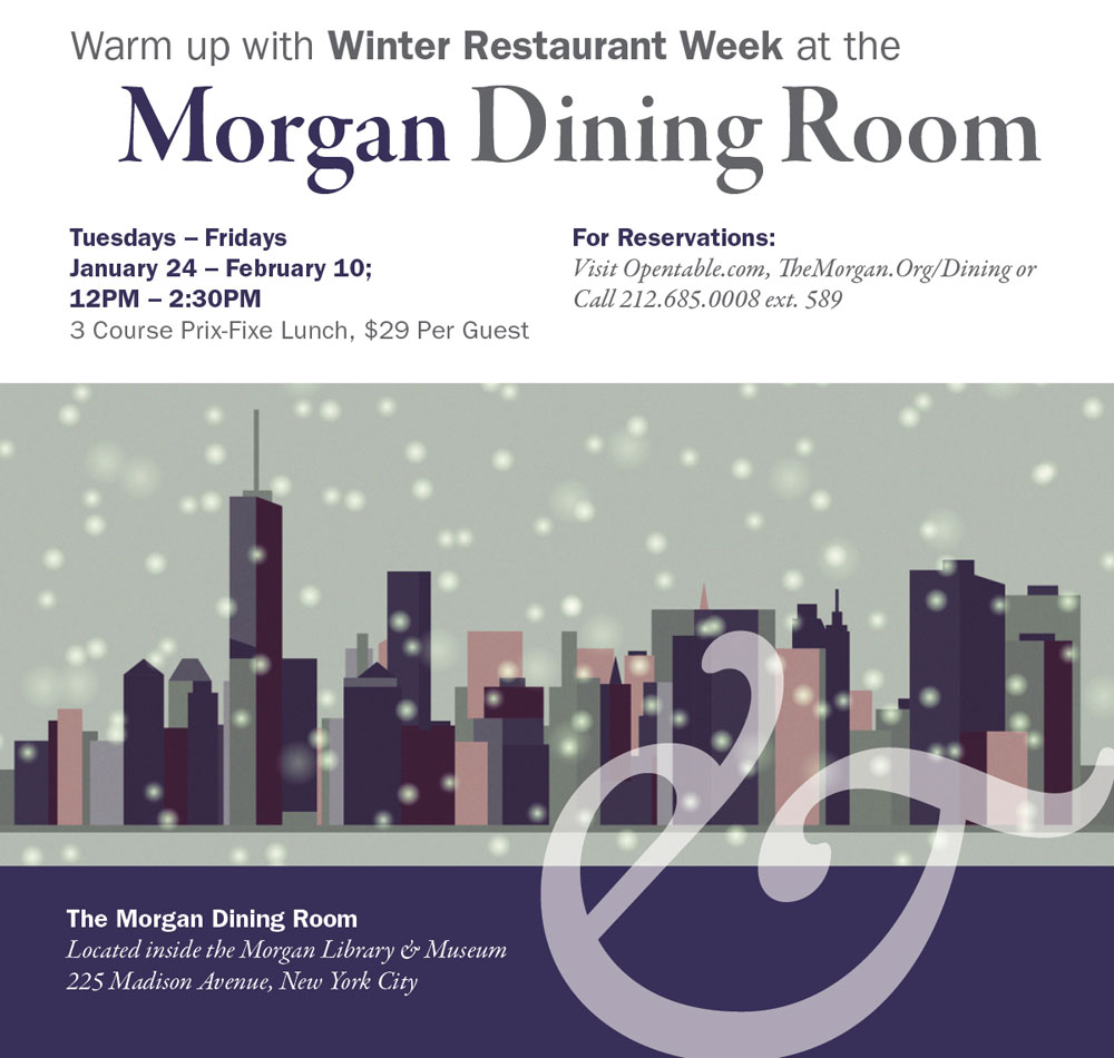 Warm up with Winter Restaurant Week at the Morgan Dining Room