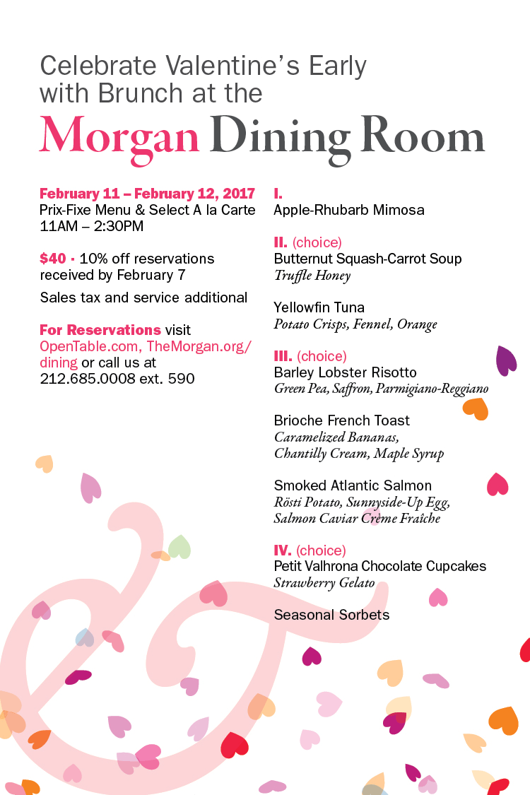 Morgan Library Dining Room Reservations
