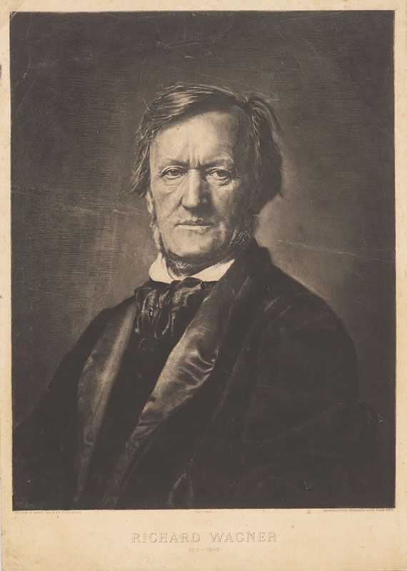 Rogelio de Egusquiza Barrena (1845– 1915), Richard Wagner, 1813-1883. Etching, aquatint, and drypoint after an 1871 photograph by Franz Hanfstaengl, Munich. Gift of Hester Diamond, 2012. The Morgan Library & Museum.