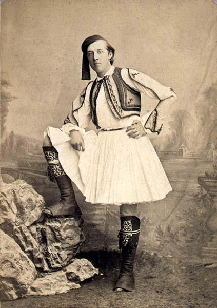 Photograph of Oscar Wilde in Athens