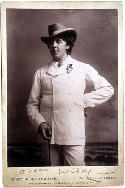 Photograph of Oscar Wilde, Isle of Wight