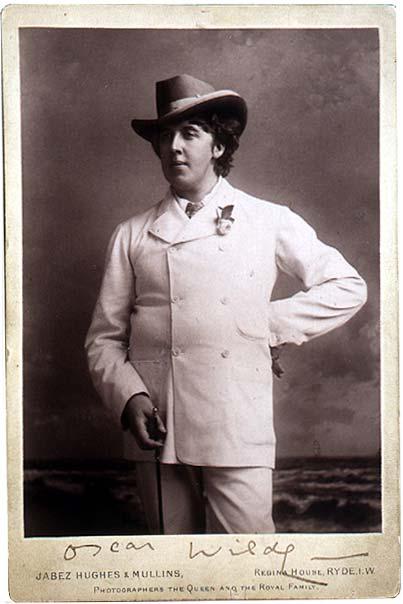 Photograph of Oscar Wilde, Isle of Wight