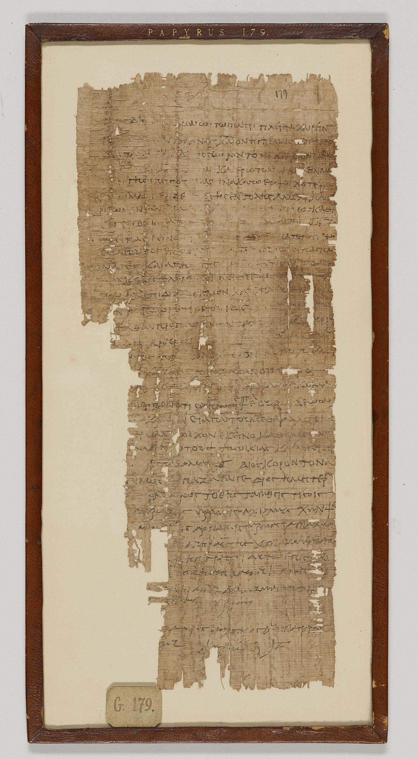 Amherst Greek Papyrus 179 Amh Gr Pap 179 Medieval