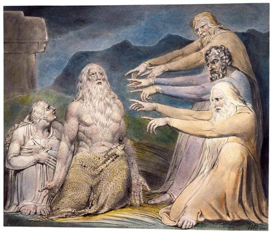 Job rebuked by his friends, William Blake