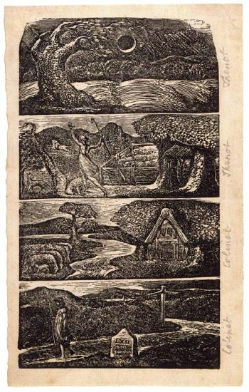 Four Wood Engravings Printed From One Block For The