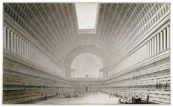 Interior Of A Library Etienne Louis Boull 233 E The Morgan