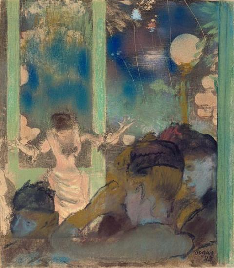Image of Edgar Degas drawing