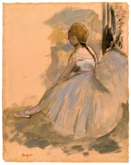 Seated Dancer Ca 1871 Edgar Degas The Morgan Library