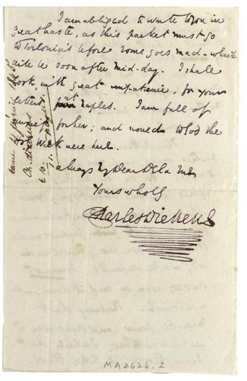 Autograph Letter Signed Genoa 4 February 1845 To Emile