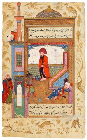 Iblīs (Satan) Leads Umar, the Second Caliph, into a Mosque