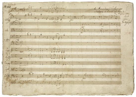 Image of Mozart manuscript