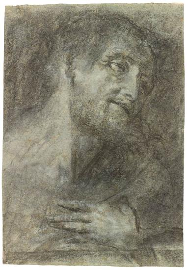 Head And Shoulders Of A Bearded Man Giovanni Girolamo