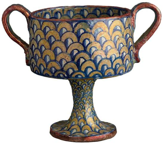 Two Cups Stemmed Cup With Two Handles