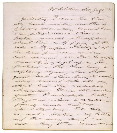 Image of Thoreau manuscript