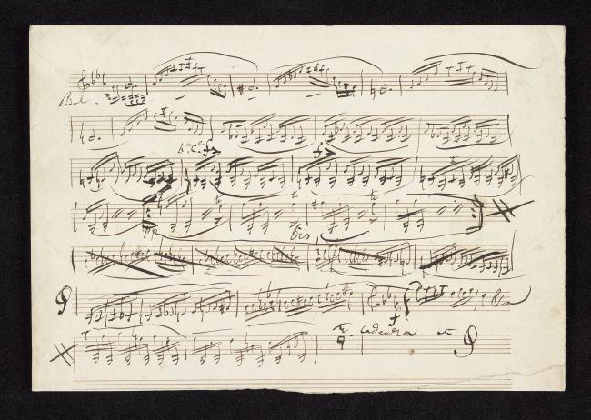 Paganini Nicolò Cadenza Violin Score Recto The