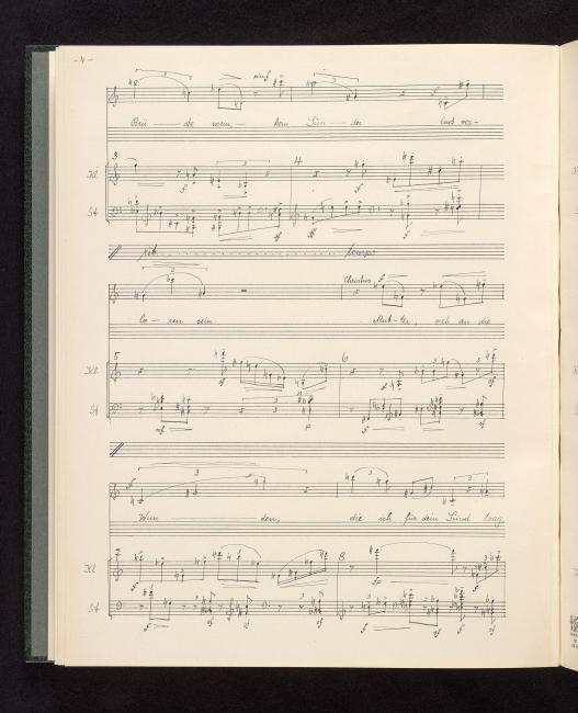 suchen schönes Design neue bilder von Webern, Anton | Lieder, clarinet, guitar acc., op. 18 | II ...