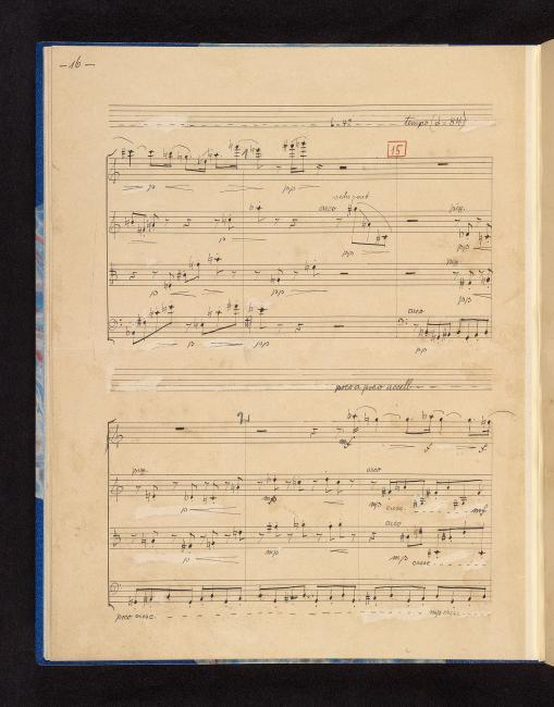 Webern, Anton | Sätze, string quartet, op  5 | Mvt  III, p  16 | The