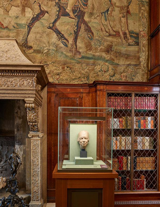 Bust of Belle da Costa Greene on display in J. Pierpont Morgan's Library