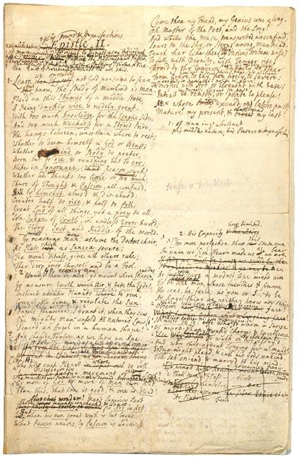 An essay on man : autograph manuscript of the first draft of the ...
