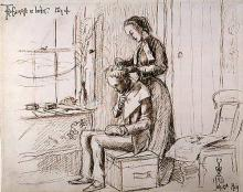 Image of John Everett Millais drawing