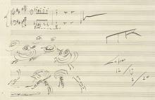 Detail of music manuscript by Maurice Ravel