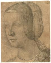 Image of Portrait of a Woman with a Hairnet