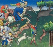 Image of Hunting Party Pursuing Wild Boar