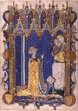 Image of Yolande de Soissons in Prayer