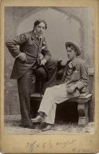Photograph of Oscar wilde and Lord Alfred Douglas