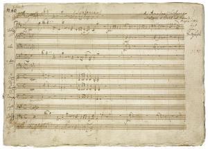 IMage of Mozart manusciprts