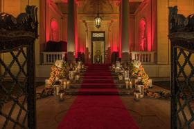 Entry through the doors of the historic 1906 McKim building for the Morgan Evening Benefit. Photography by Arnold Brower.